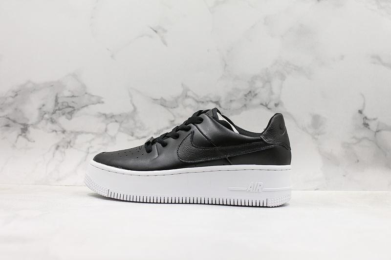 Women's Nike Air Force 1 Sage Low Lx Black White Shoes NIKE ST007080