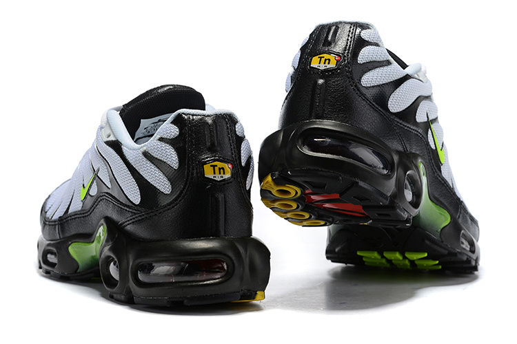 best website e0f68 ab443 Nike Air Max Plus White Black Green Running Shoes Men's NIKE-ST007208