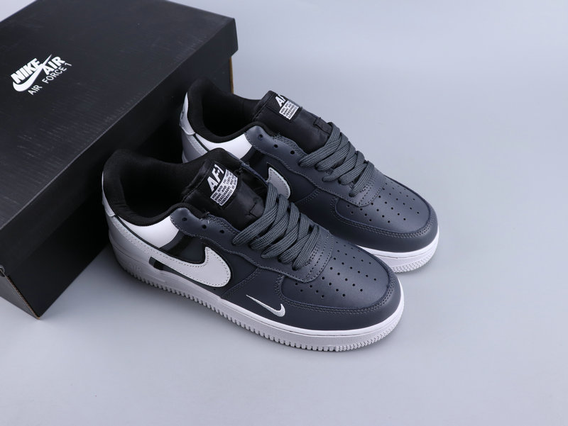 Nike Air Force 1'07 LV8 Jdi Lntc Gray White Running Shoes Wmns NIKE ST007356