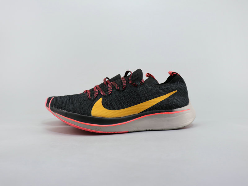 Nike Vaporfly 4% Flyknit Black Yellow Pink Running Shoes Men's NIKE ST007136