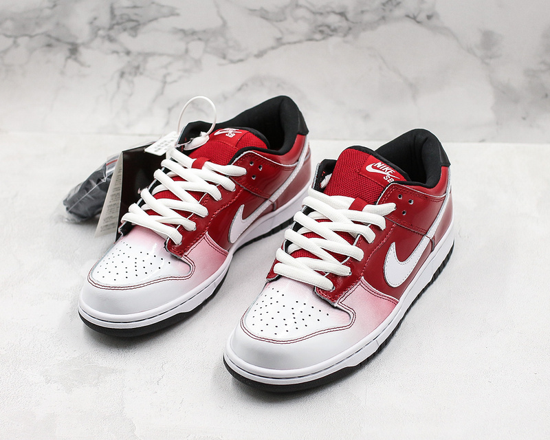 cheap for discount e2042 47a1f Wmns Nike Sb Dunk Low Premium Sb Red White Shoes 313170 611 313170-611