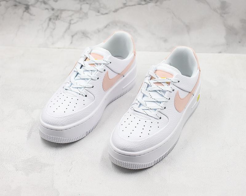 Women's Nike Air Force 1 Sage Low Lx White Pink Shoes CI9094 100 CI9094 100