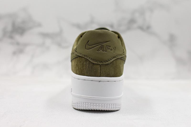 quality design 0b0e5 d411b Women's Nike Air Force 1 Sage Low Lx Green White Shoes NIKE-ST007079
