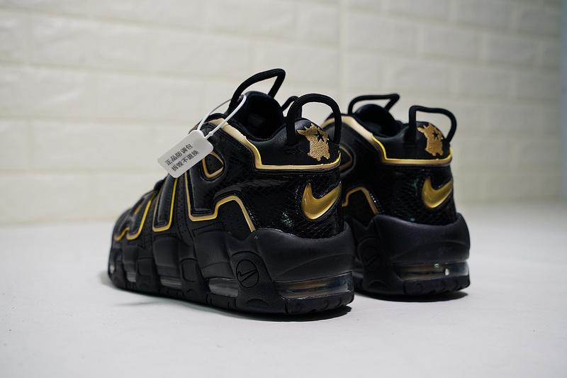 great prices wide varieties shop best sellers Men's Nike Air More Uptempo 96 'France' Black Gold Basketball Shoes  AV3810-001 AV3810-001-