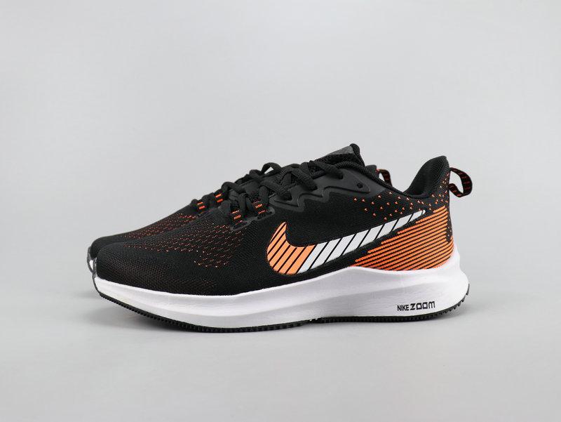 new styles 87840 821eb Nike Run Swift Black Orange Running Shoes Men's NIKE-ST007566