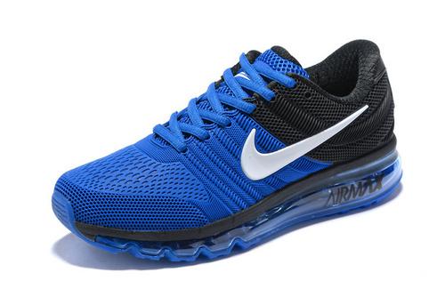 finest selection b8e39 b5e6c Nike Air Max 2017 Blue Black White Running Shoes Men's NIKE-ST007848