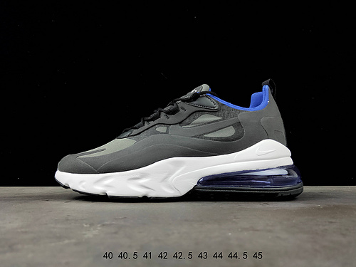 best authentic d5ad1 ddef4 Nike React Air Max 270 Gray Black Running Shoes Men's NIKE-ST007656