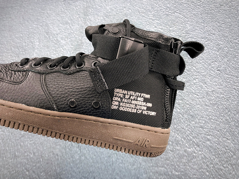 Nike Wmns SF AF1 Mid Air Force 1 Brown Casual Shoes AA3966 003 AA3966 003