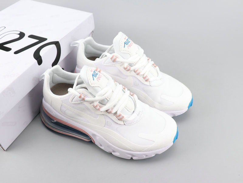 Nlke Air Max 270 React White Pink Running Shoes Women's NIKE ST007673