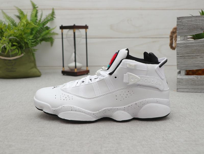 sports shoes 14dfc c8b14 Nike Air Jordan 6 RIngs AJ White Black Basketball Shoes Wmns NIKE-ST007860