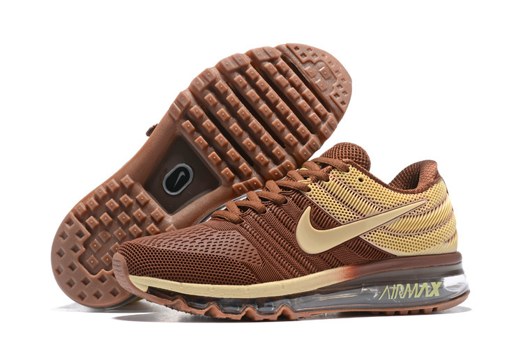 brand new d567b ce36a Nike Air Max 2017 Brown Running Shoes Men's NIKE-ST007850