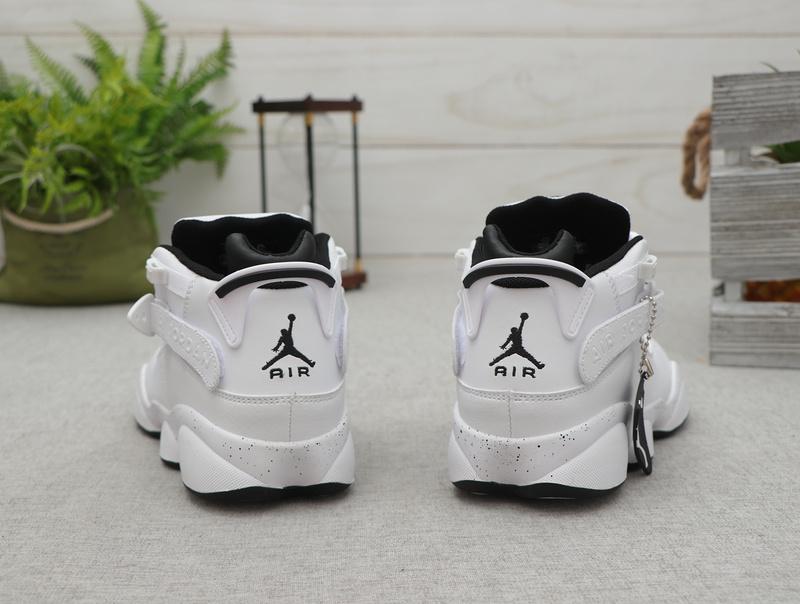 sports shoes 4a665 1a90f Nike Air Jordan 6 RIngs AJ White Black Basketball Shoes Wmns NIKE-ST007860
