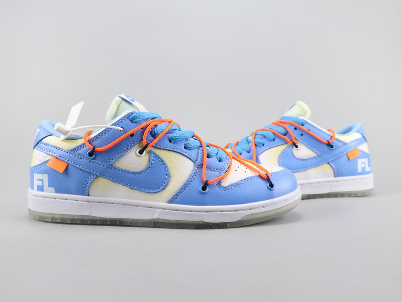check out 04121 ee51b Off White x Nike Dunk Low x Futura Blue White Orange Running Shoes Wmns  NIKE-ST007736