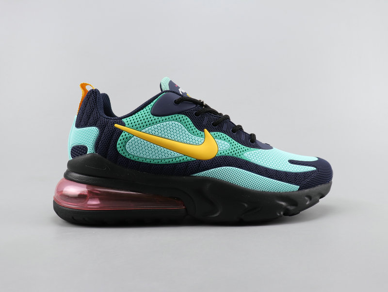 Nike Air Max 270 React Black Blue Yellow Running Shoes Wmns NIKE ST007875