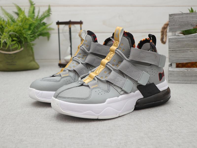 reputable site ef138 494dd Nike Air Edge 270 Gray White Black Men's Basketball shoes NIKE-ST007780