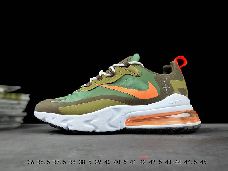 size 40 7266f 6bec2 Nike React Air Max 270 Green Orange White Running Shoes Wmns NIKE-ST007660
